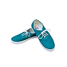 Mint Green Lace Up Women's Canvas