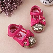 New Stylish Cute Bowknot Kids Girls Princess Shoes(3 colors)