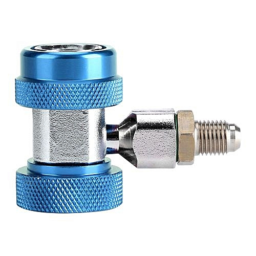 R134A/C Low/High Quick Connector Air Conditioning Coupler Adapter +  Extractor Valve Core (Blue)