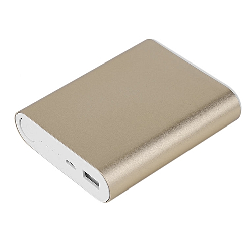 HP-USB External Backup Battery Charger Power Bank Case - gold