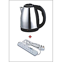 Cordless Electric Kettle - 2L With 4-way Extension cable