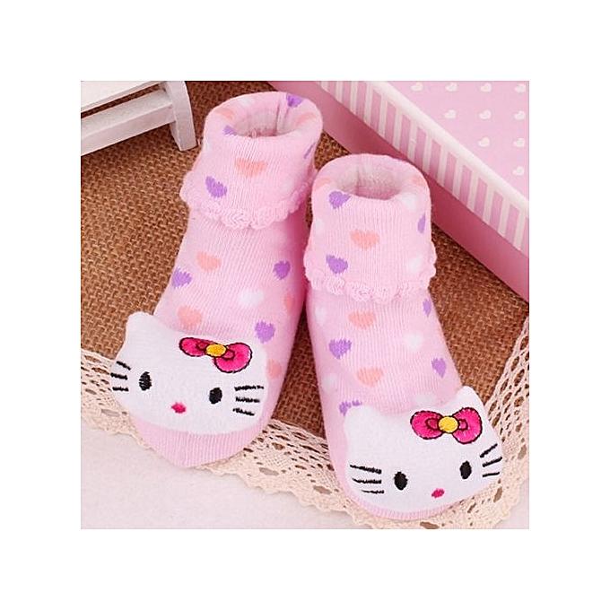 3 Pair/lot Autumn Winter Cute Baby Girl Animal Design Socks Cartoon Girls  Socks Infant Toddler Socks Anti-slip - KT Cat