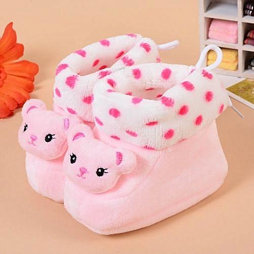56c88296f Generic Grace Newborn Baby Cartoon Sneaker Shoes Thick Warm Baby ...