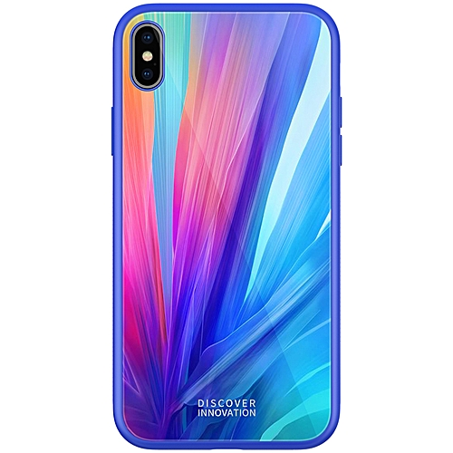 cheaper 9d3fe c0f6d Shockproof Tempered Glass + Soft TPU Back Cover Protective Case for iPhone  XS