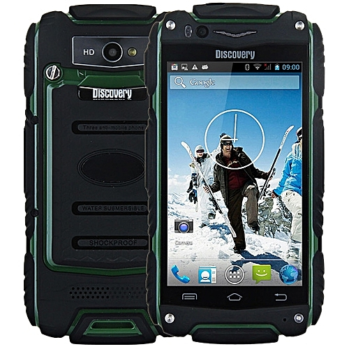 4.0 inch Discovery V8 Android 4.4 3G Smartphone MTK6572 1.0GHz Dual Core WiFi GPS Waterproof Dustproof Shockproof 4GB ROM ARMY GREEN