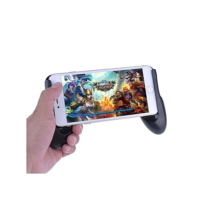 Whyus-Durable Telescopic Game Grip Handle Bracket Holder For Android ISO  Smartphones (Black)