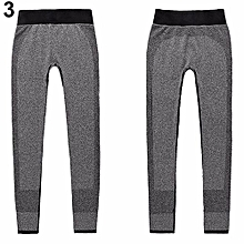 Women's Casual Work Out Fitness Breathable Gym Wear Yoga Capris Pants Trousers-Grey