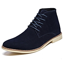 99d03b12d21b8 Nubuck Leather Ankle Boots Men Martin Desert Bootss