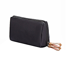 Small Cute Makeup Bag Waterproof Cosmetics Storage Pouch Handbag For Travel black & red