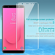 Imak 2pcs Hydrogel Film for Samsung Galaxy J8 J800F Full Cover Screen Protector