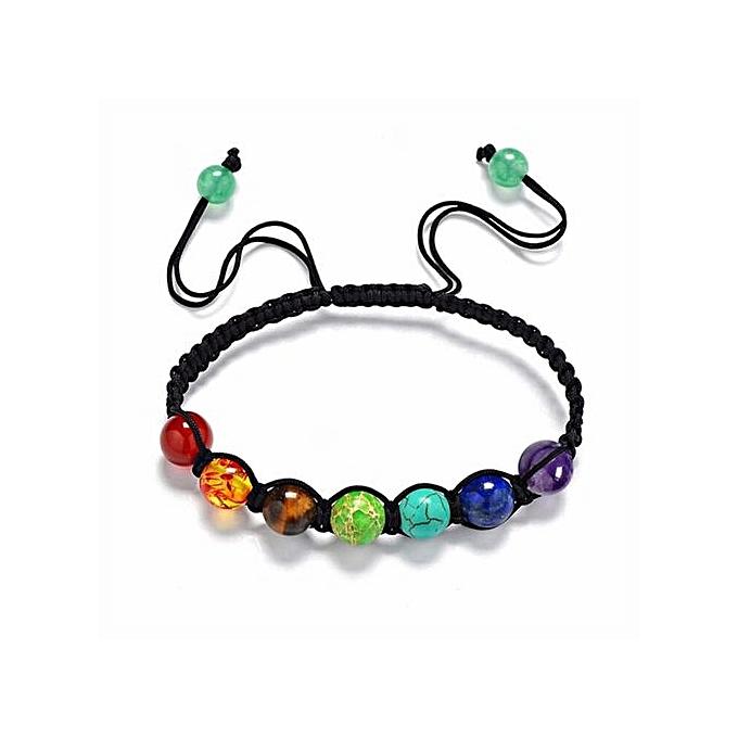 7 Chakra Healing Balance Beads Bracelet Yoga Life Energy Jewelry