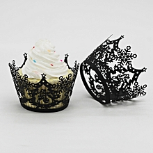Christmas Tree Hollow Lace Cup Muffin Cake Paper Case Wraps Cupcake Wrapper