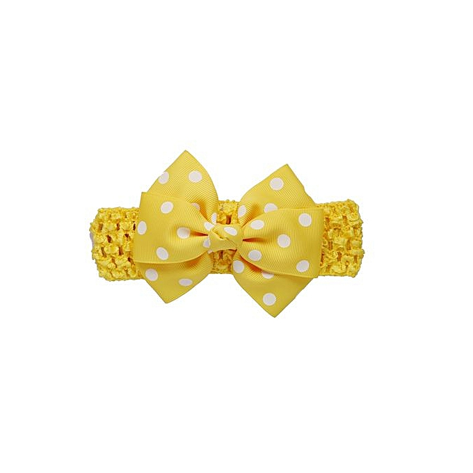 275221abdd2 Braveayong Girls Wave Headbands Bowknot Hair Accessories For Girls Infant Hair  Band - Yellow
