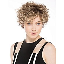 Short Golden Blonde Ombre Hair Wig For Women Loose Wave Wigs