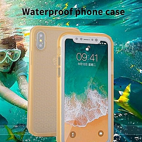 Generic IPhone X Case Waterproof IPhone Xs Case Phone Case For IPhone X  Full Protection Cover Under Water Shockproof And Dustpro