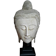 WHITE FACE BUDDHA WITH STAND