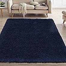 Fluffy Carpet - 7x10 - Navy Blue