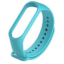Replacement TPE + TPU Wrist Strap for Xiaomi Mi Band 3 Smart Bracelet - BLUE