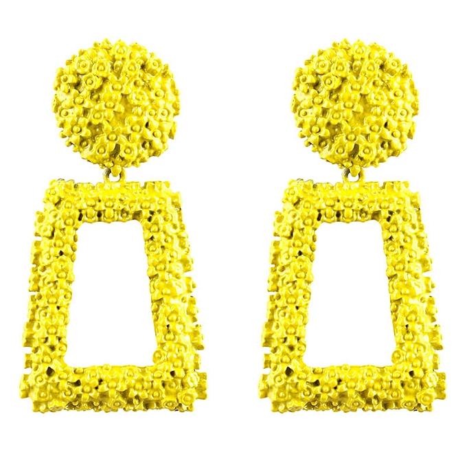 Women Dangle Earrings Alloy Statement Earring Jewelry Yellow