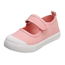 Africanmall store Toddler Kids Baby Boys Girls Princess Shoes Casual Single Party Shoes Sneaker-Pink
