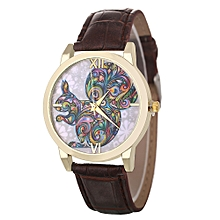 Africanmall store Women Quartz Analog Wrist Dial Delicate Watch Luxury Watches-Coffee