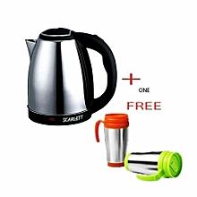 Cordless Electric Kettle - 2 Litres + 1 FREE Travel Mug