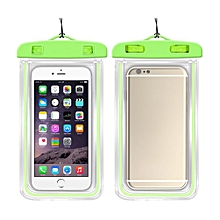 Outdoor Waterproof Pouch Swimming Beach Dry Bag Case Cover Holder for Cell Phone-Green