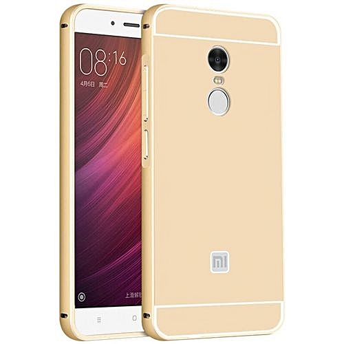 c2cfc153718 Generic PC Back + Metal Frame Hard Case Cover For Xiaomi Redmi Note 4 (Gold)