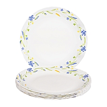 Dinner Plates 6 Pieces + FREE 6 Tablespoons - White