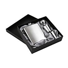 7oz Stainless Steel Pocket Hip Flask Funnel Cups Set Drink Bottle Gift