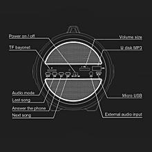 Wireless Bluetooth Speaker Stereo Music Radio Function Portable Loudspeaker