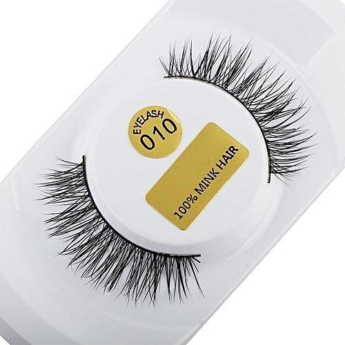 16208c5e92 QIBEST bluerdream-3D Lashes Mink Natural Thick False Fake Eyelashes Eye  Lashes Makeup Extensions-Black