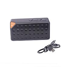 X3 - Bluetooth V2.1 Mini Speaker With FM Radio, USB Input - Black