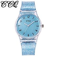 Women 's Fashion Silica gel Band Analog Quartz Round Wrist Watch Watches