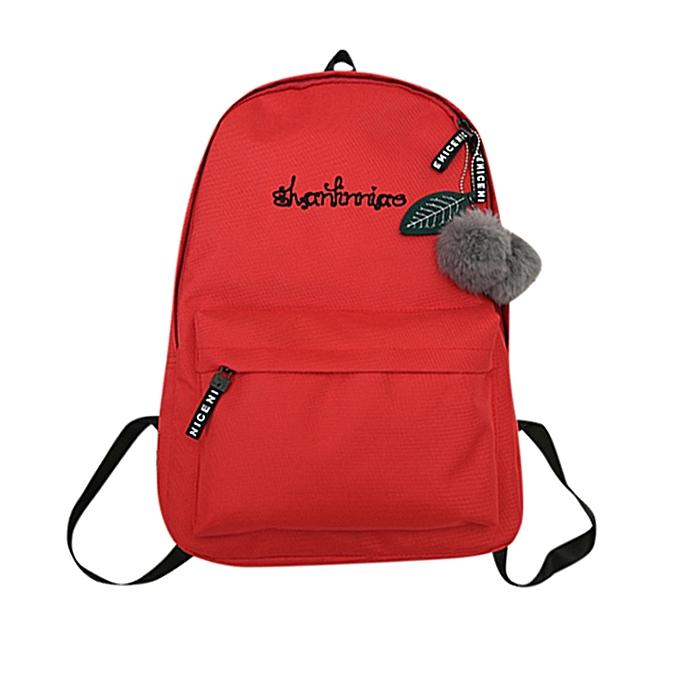 ... huskspo Unisex Preppy Shoulder Solid Bookbags School Travel Backpack Bag f87adea8ac68e