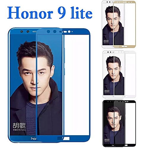 Protective Glass On Honor 9 lite Tempered Glass For Huawei Honor 9 lite  Huaweii honor9 9lite Glas Screen Protector Film Cover 9H(Color White)