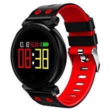 CACGO K2 Bluetooth 4.0 Nordic NRF52832 Chip Sleep / Heart Rate / Blood Pressure / Blood Oxygen / Calories Monitor Remote Camera Smart Watch for iOS / Android Phones RED