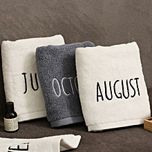 Month Logo Pure Cotton Bath Towel Soft Thicken Super Absorbent Face Towels
