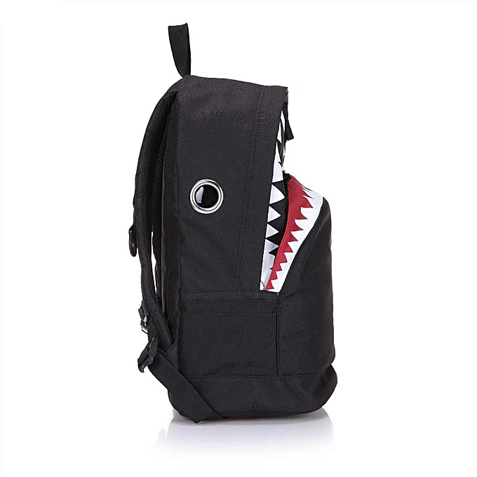 LAZYLIFE Cute Backpack For Teenage Girls School Backpack Big Shark Canvas  Backpack e330d0a22cc2f