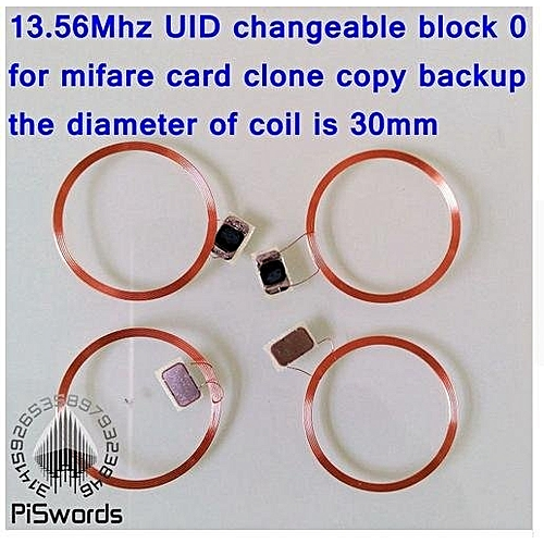 10pcs/lot NFC Coil UID Changeable RFID Card With Block0 Mutable Writeable  Chip For Mf1 1k S50 13 56Mhz Nfc Card Clone Crack Hack
