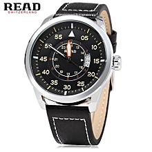 Male Luminous Pointer Sport Wristwatch - Silver