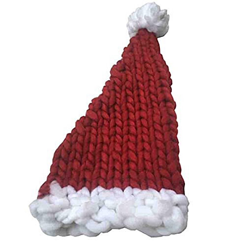 edfd7a6f59b Allwin Knitting Hat Santa Claus Hats Christmas Gift Wool Hat For Women Men  Adults Red   Best Price