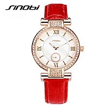 new 2017  women watches ladies watches top brand luxury dress leather strap quartz watch with rhinestone relogio feminino
