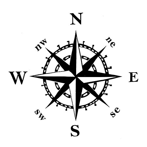 Generic 20 Hood Compass Decal For Jeep Wrangler On Jk Cj Tj Yj