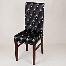 Removable Stretch Spandex Chair Cover Slipcovers Dining Wedding Banquet Decor # Black