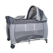 Baby Travel Cot, Foldable Playpen, Baby Crib - grey