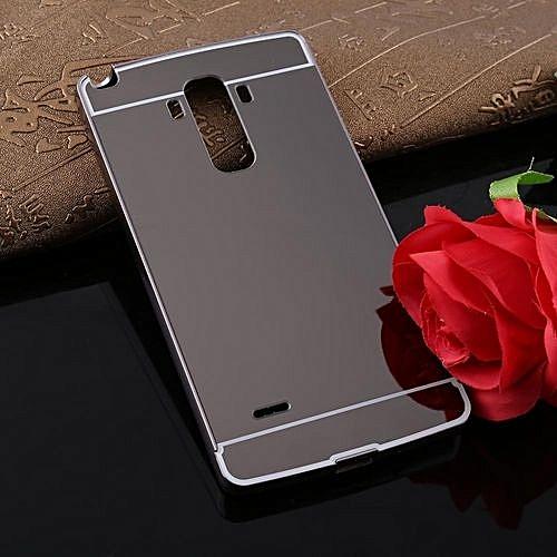 UNIVERSAL Fashion Ultra-Thin Luxury Detachable Metal Mirror Back Cover Phone Case For LG G4 Stylus Black