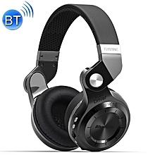 Bluedio T2+ Turbine Wireless Bluetooth 4.1 Stereo Headphones Headset with Mic & Micro SD Card Slot & FM Radio, For iPhone, Samsung, Huawei, Xiaomi, HTC and Other Smartphones, All Audio Devices(Black)
