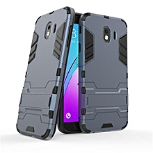 For Samsung Galaxy J4 2018 Case Plastic Silicone Rubber Armor Stand Full Cover For Galaxy J4 2018 Euro With Holder
