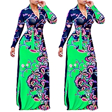 Nigerian Evening Gown Anakara Style Maxi Dresses-Green
